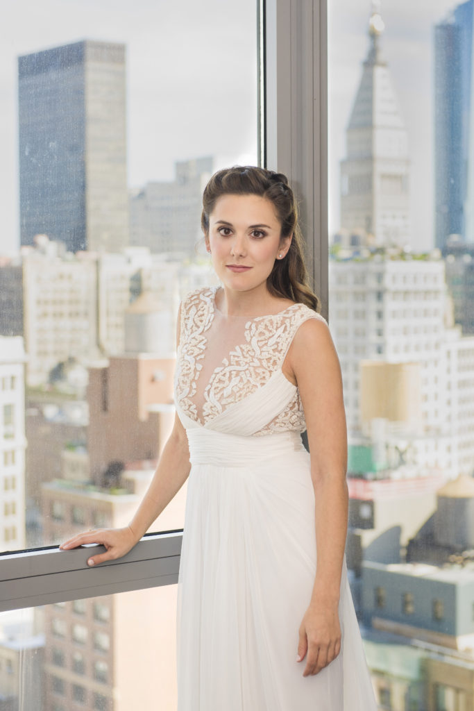 Wedding makeup at the Lighthhouse in NYC by Anabelle LaGuardia