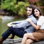 nyc engagement shoot makeup by anabelle laguardia